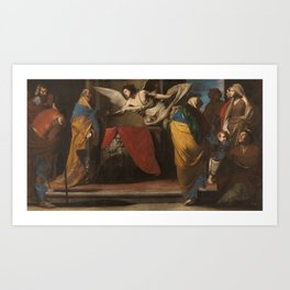 STANZIONE, MASSIMO Orta di Atella, Caserta, 1585 - Nápoles, 1656 The Birth of John the Baptist annou Art Print