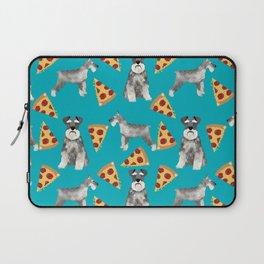 schnauzer pizza dog breed pet pattern dog mom Laptop Sleeve