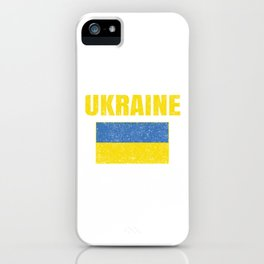 Ukrainian National Flag Vintage Ukraine Country Gift iPhone Case