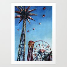 Spinning in the Sky Art Print
