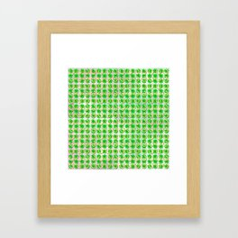Lucky with gold horseshoes and four leaf clovers Framed Art Print