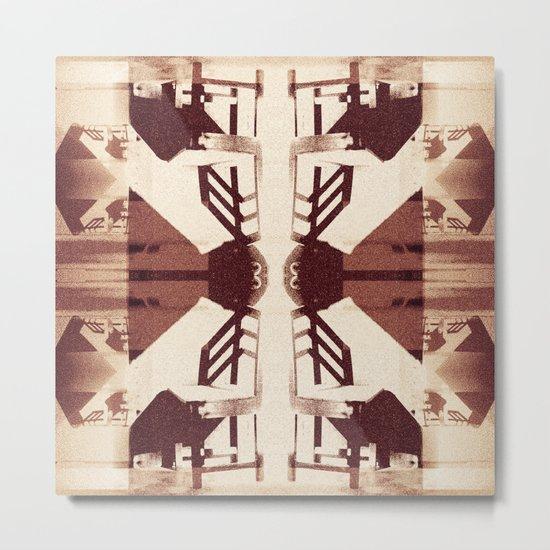 Blank chairs under the doorknobs No5  Digital Art Metal Print