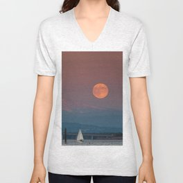 Supermoon  Unisex V-Neck
