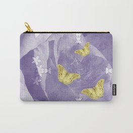 Secret Garden with Gold Butterflies in Ultraviolet Carry-All Pouch