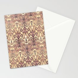 Christimas - Ocher, vintage, rose Stationery Cards