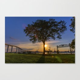 Sunset At Elizabeth River Park Canvas Print