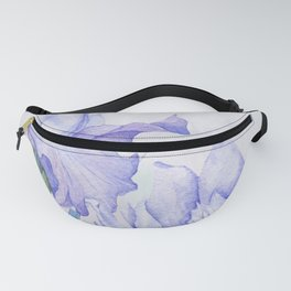 Watercolor Iris Fanny Pack