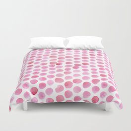 Pink Polka Dot Watercolour Duvet Cover