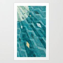 Sunburst Triangle Burst Art Print
