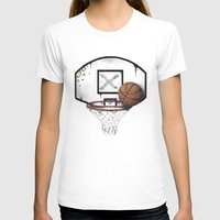 basketball T-shirts featuring basketball by Penfishh