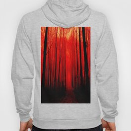 Misty Red Forest Hoody