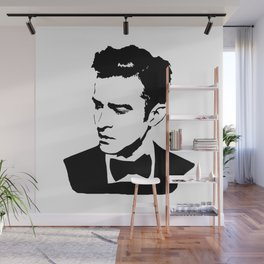 PORTRAIT OF A MOVIE STAR AND MUSICIAN NAMED JUSTIN Wall Mural