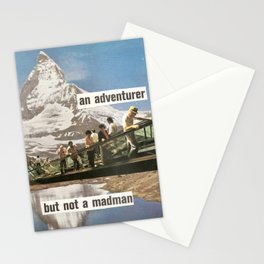 An Adventurer, But Not a Madman Stationery Cards