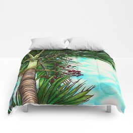 Manila Palm Tree - Hawaii Comforters