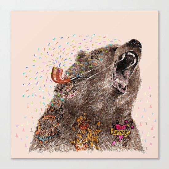 Angry Bear II Canvas Print