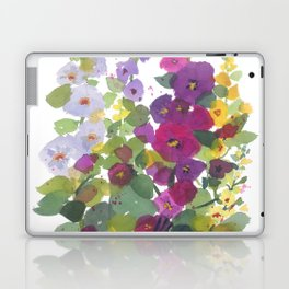 Purple Hollyhock Garden Laptop & iPad Skin