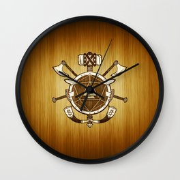 d20 Viking Warrior Wall Clock