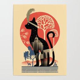 Cat Deco Poster