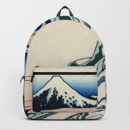 """Hokusai (1760-1849) """"Asakusa Hongan-ji temple in the Eastern capital [Edo]"""" Backpack"""