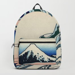 "Hokusai (1760-1849) ""Asakusa Hongan-ji temple in the Eastern capital [Edo]"" Backpack"