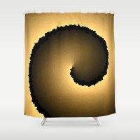 justin timberlake Shower Curtains featuring Justin by Angela Pesic