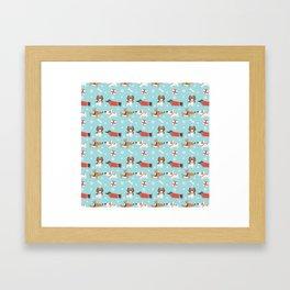 A dog's Christmas Framed Art Print