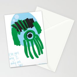 my eye is only on you [SQUID] [EYE]  Stationery Cards