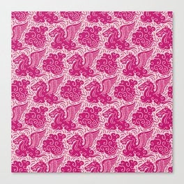 Pegasus Pattern Pink and Raspberry Canvas Print