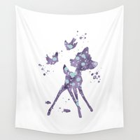 bambi Wall Tapestries featuring Bambi Disneys by Carma Zoe