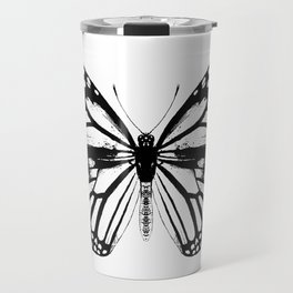 Monarch Butterfly | Vintage Butterfly | Black and White | Travel Mug