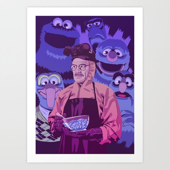BREAKING BAD - Some kind of blue addiction Art Print