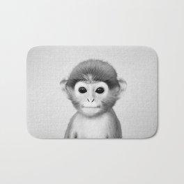 Baby Monkey - Black & White Bath Mat