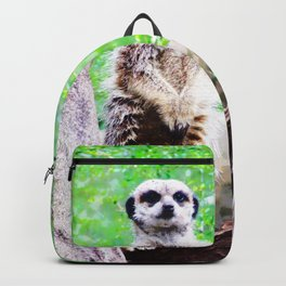 Meerkat at Attention Backpack