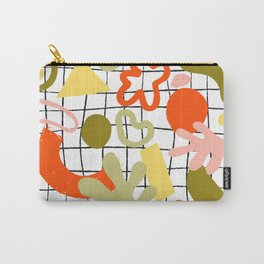 Tropical jungle leaves and various shapes Carry-All Pouch