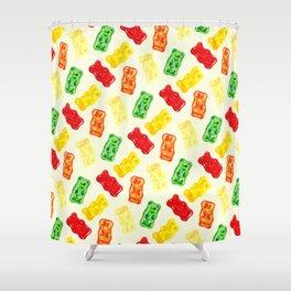 Gummy Bear Pattern Shower Curtain