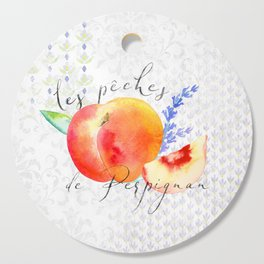 Les Pêches de Perpignan—Peaches from Provence Cutting Board