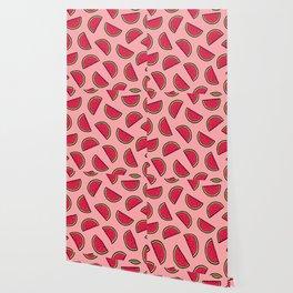 Watermelon Pattern in Pink Wallpaper