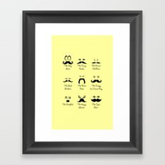 Eyes and Facial Hair Framed Art Print
