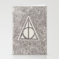 deathly hallows Stationery Cards featuring deathly hallows by Clara Lucie P