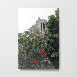 Notre Dame et la rose Metal Print