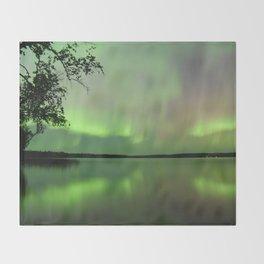Aurora Borealis Reflection Throw Blanket