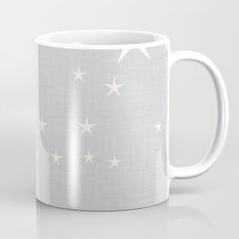 Grey star with fabric texture - narwhal collection Coffee Mug