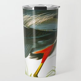 Great blue heron John James Audubon Vintage Scientific Bird Illustration Travel Mug