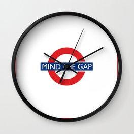London Underground Mind The Gap Wall Clock