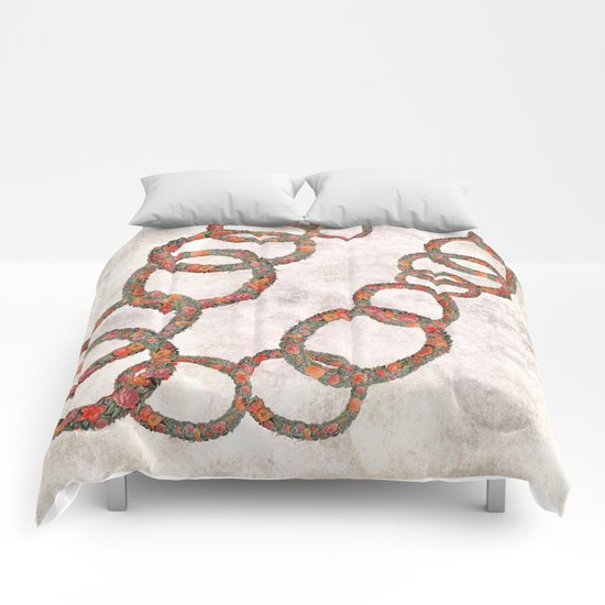Woman in chains Comforters