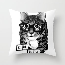SophistiCat - Science! Throw Pillow