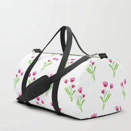 Pink Wildflowers Duffle Bag