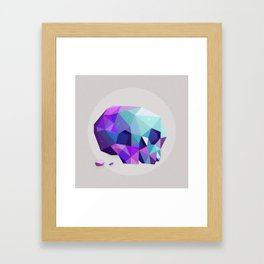 crystal skull Framed Art Print