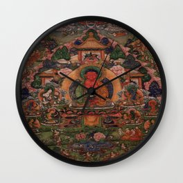 Buddha Amitabha in His Pure Land of Suvakti Wall Clock