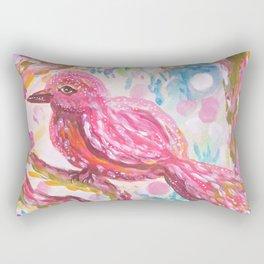 Pink Bird Rectangular Pillow